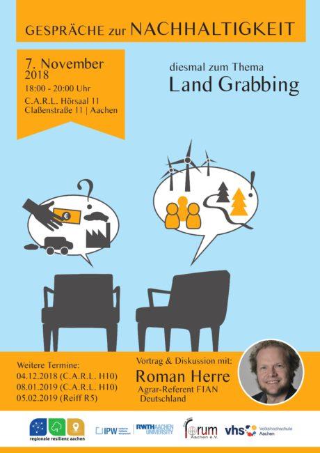 Gespräche zur Nachhaltigkeit: Land Grabbing