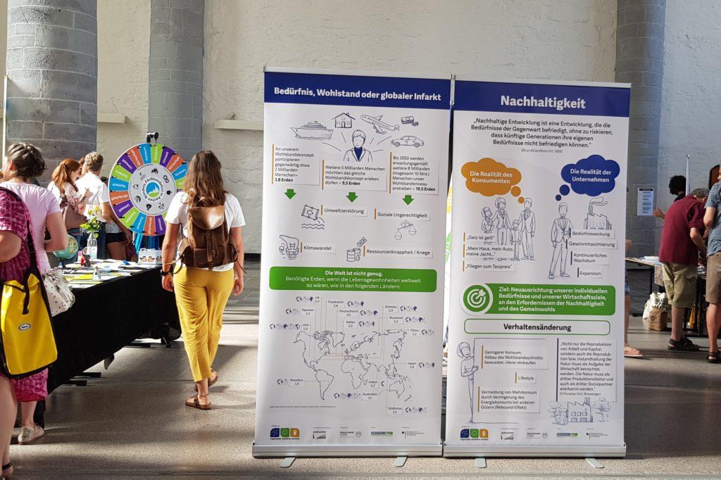 Nachhaltigkeits-Ausstellung auf der ersten Aachener Fair-Trade Messe 31.08.2019