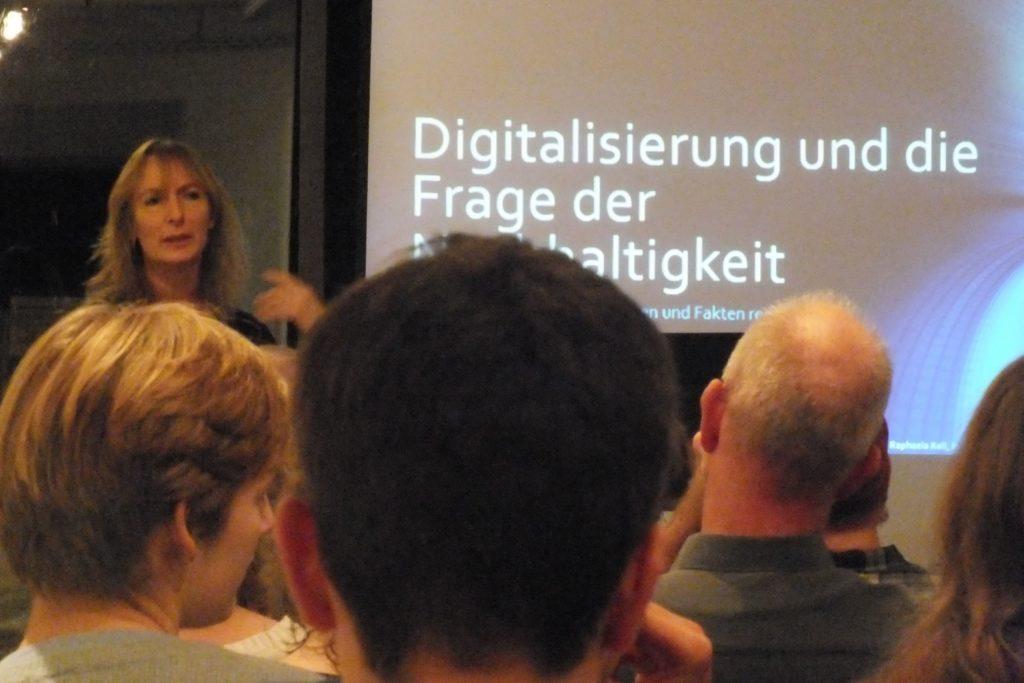 Vortrag zum Thema Digitalisierung und Nachhaltigkeit: (Wie) geht das?