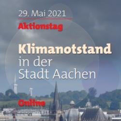 """Aktionstag: """"Klimanotstand in der Stadt Aachen – Was macht die Stadt?"""""""