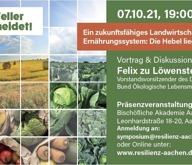 Gastvortrag: Felix zu Löwenstein . Ein zukunftsfähiges Landwirtschafts- und Ernährungssystem: Die Hebel liegen in unseren Händen!